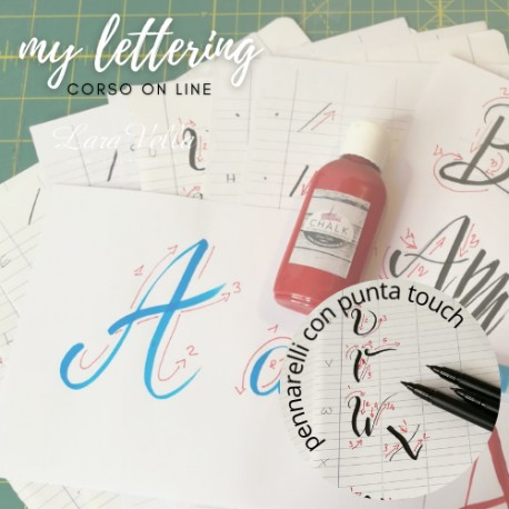 Corso on line lettering