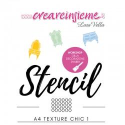 Stencil A4 Textura Chic 1
