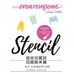 Stencil kit cementine 10 pezzi 15x15 cm