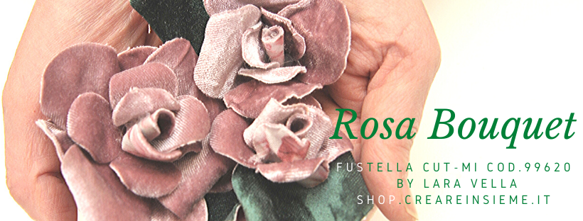 Fustella Rosa Bouquet e tag cod. 99620 Video Corsi